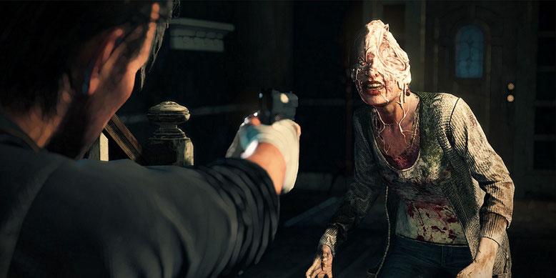 Im erweiterten E3-Trailer zum Horrorspiel The Evil Within gibt es noch mehr Gameplay zu sehen. Bilderquelle: Bethesda