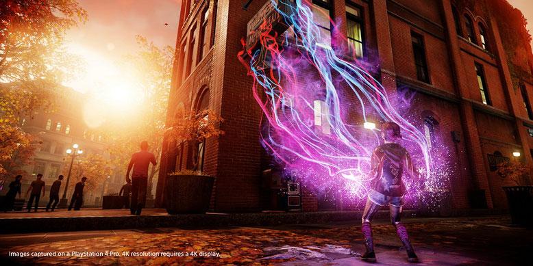 PlayStation 4 Pro 4K Gameplay-Bilder zu Infamous First Light. Bilderquelle: Sucker Punch Productions