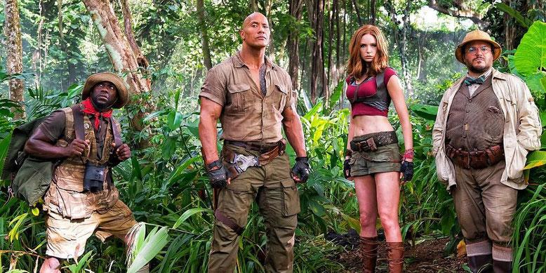 Jumanji 2: Willkommen im Dschungel im ersten Kino-Trailer mit Dwayne Johnson präsentiert. Bilderquelle: Sony Pictures