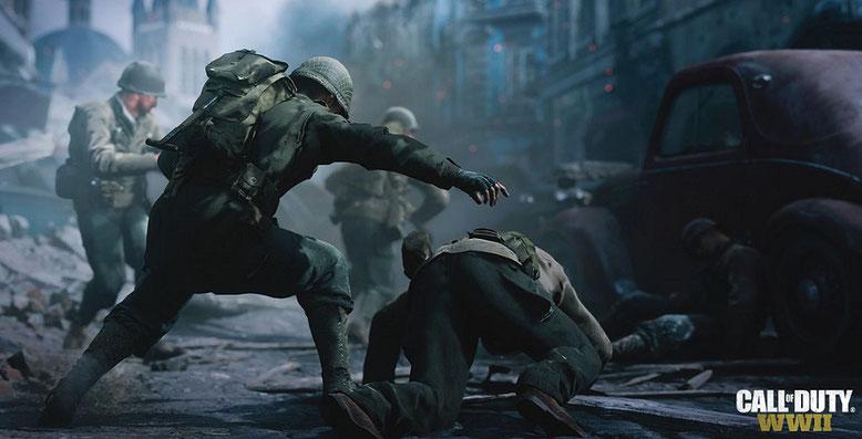 """Call of Duty WW2 umfasst eine Mission, die sich dem Unternehmen """"Wacht am Rhein"""" widmet. Bilderquelle: Activision"""