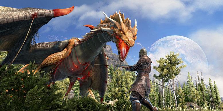 Neues Gameplay-Video zu Dark and Light zeigt, wie ihr Drachen fangen und zähmen könnt. Bilderquelle: Snail Games