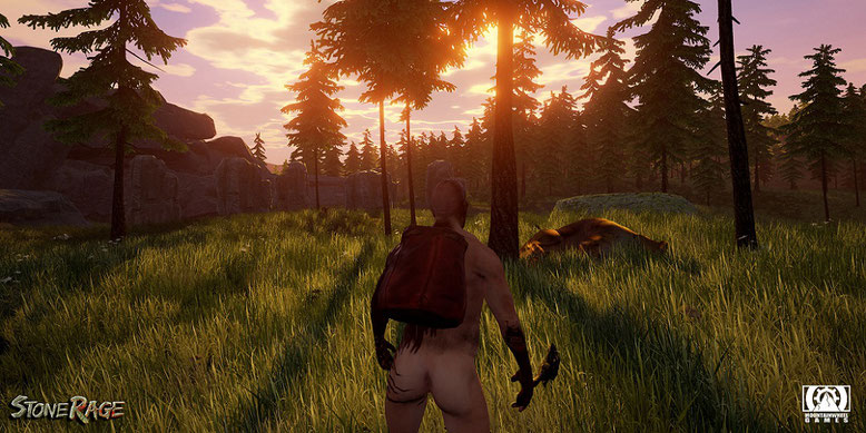 Das Open-World-Survival-Game Stone Rage entsteht auf der Unreal Engine 4. Bilderquelle: Mountainwheel Games