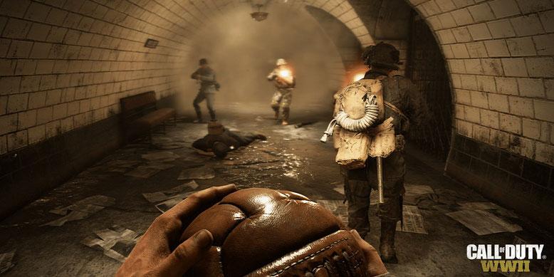 Ballspiele in Call of Duty WW2: Der Uplink-Modus des Actionspiels im ersten Gameplay-Screenshot. Bilderquelle: Activision