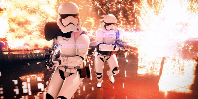 Kurz vor der E3 2017 gibt es neues Gameplay zu Star Wars Battlefront 2 im Video zu sehen. Bilderquelle: Electronic Arts