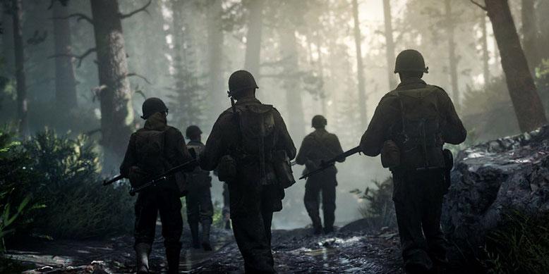 Das Gameplay in Call of Duty WW2 konzentriert sich auf die 1. US-Infanteriedivision. Bilderquelle: Activision