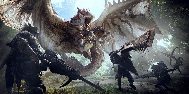 Monster Hunter World erscheint im Januar 2018 für PS4 und Xbox One im Handel. Bilderquelle: Capcom