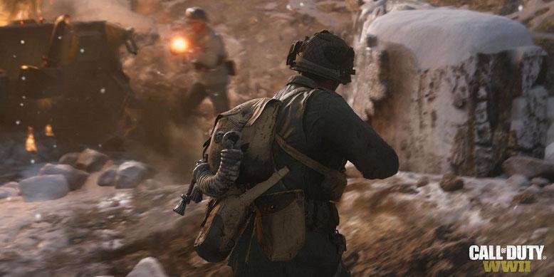 Die Beta zu Call of Duty WW2 ist nach Informationen eines Users im Neogaf-Forum auch ohne Key spielbar. Bild: Activision
