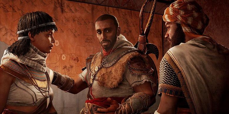 """Kurz vor der Veröffentlichung des Story-DLCs """"Die Verborgenen"""" für Assassin's Creed: Origins gibt es den Release-Trailer zu der Erweiterung zu sehen. Bilderquelle: Ubisoft"""