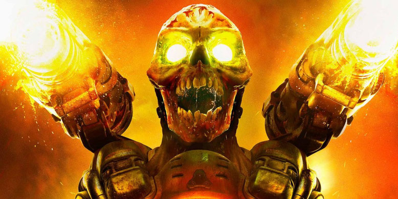 Der Shooter Doom für Nintendo Switch steht der PS4-Version des Actionspiels gegenüber. Bilderquelle: Bethesda