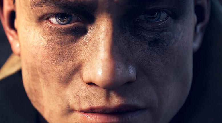 Ein Werbebanner zum EA-Play-Event zeigt das Spielelogo von Battlefield V. Eine offizielle Bestätigung für die Echtheit des Werbeplakats liegt uns jedoch noch nicht vor. Bilderquelle: Electronic Arts