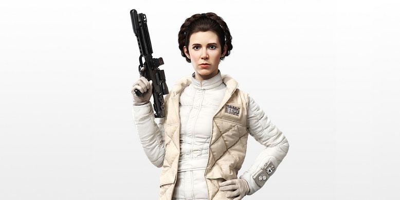 Prinzessin Leia-Darstellerin Carrie Fisher erleidet Herzinfarkt. Bilderquelle: Star Wars Battlefront - EA