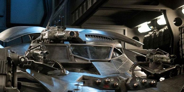 Auf der Comic-Con enthüllen Mattel  und Warner Bros. das Batmobil aus Justice League. Bilderquelle: Warner Bros. Pictures
