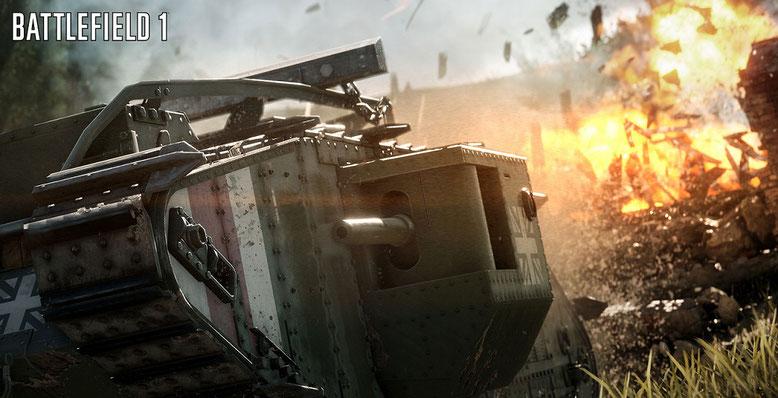 Battlefield 1 im neuen Video zeigt die Kriegsvehikel