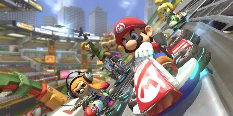 Mario Kart 8 Deluxe für Nintendo Switch schneidet bei der Fachpresse sehr gut ab. Bilderquelle: Nintendo