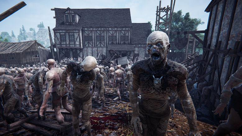 Mit The Black Masses erwartet uns ein neues Open World RPG - angesiedelt im Mittelalter, in dem wir auf Unmengen von Untoten stoßen werden. Bilderquelle: Brilliant Game Studios