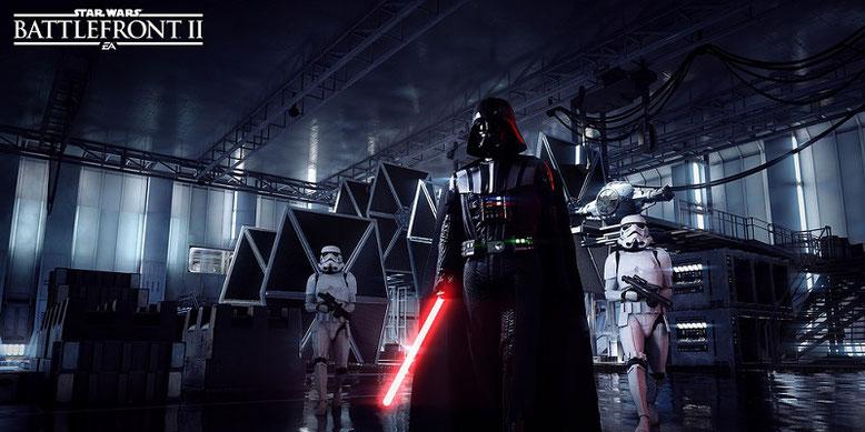 Darth Vader ist einer der spielbaren Schurken in Star Wars Battlefront 2 von Motive, Criterion und DICE. Bilderquelle: EA