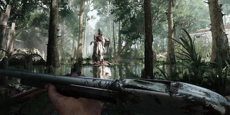 Crytek zeigt die ersten Gameplay-Szenen zu seinem Koop-Actionspiel Hunt Showdown auf der E3 2017. Bilderquelle: Crytek