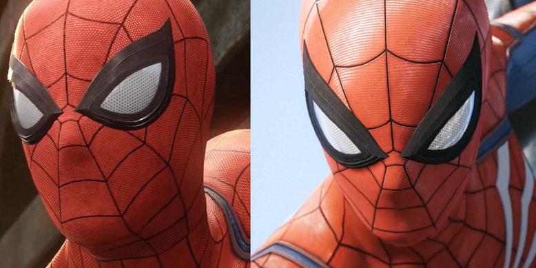 Spider-Man auf PlayStation 4 im neuen Videovergleich. Links Material aus dem Jahr 2016, rechts aus 2017. Bilderquelle: Sony
