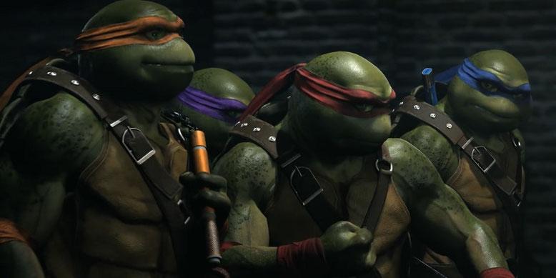Injustice 2: Die Teenage Mutant Ninja Turtles, The Atom und Enchantress halten per Fighter Pack 3 DLC Einzug in das Prügelspiel. Bilderquelle: Warner Bros. Interactive Entertainment