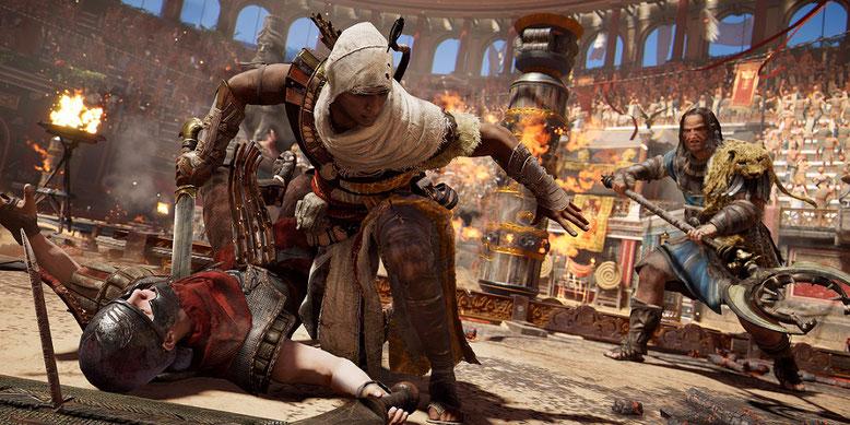 Ein neues Video zu Assassin´s Creed Origins bringt uns anhand von Gameplayszenen das Kampfsystem näher. Bild: Ubisoft