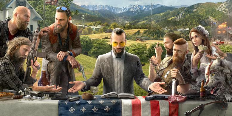 Der Oberschurke in Far Cry 5 stellt einen religiösen Sektenführer dar. Bilderquelle: Ubisoft