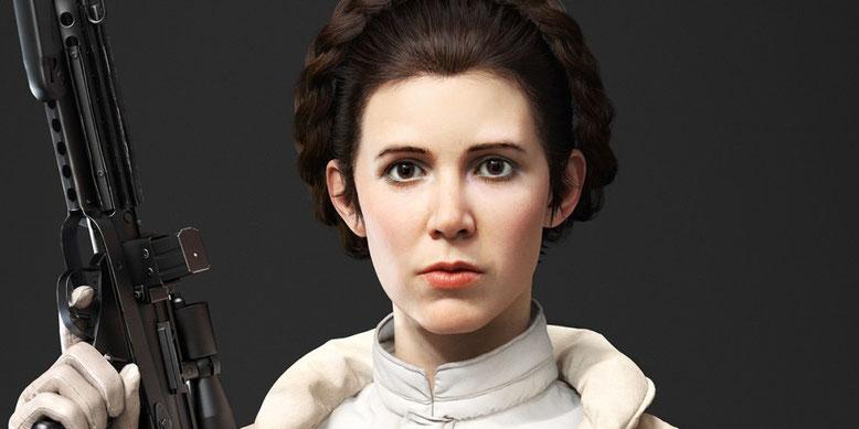 Kein Wiedersehen von Carrie Fisher als Leia in Star Wars: Episode 9. Bilderquelle: Electronic Arts/Battlefront