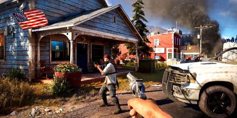 Far Cry 5 zeigt sich im neuen Gameplay-Walkthrough-Video der PAX West 2017 aus Seattle. Bilderquelle: Ubisoft