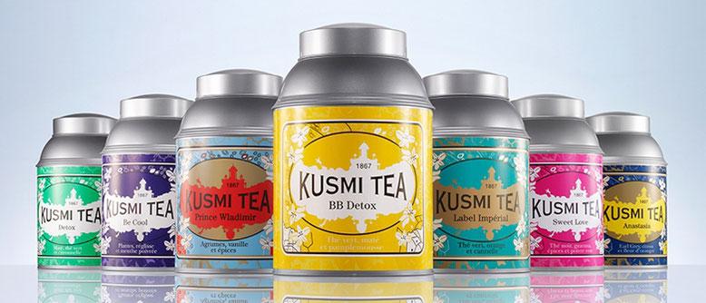 Kusmi Tea : boissons proposées dans notre espace salon de thé !
