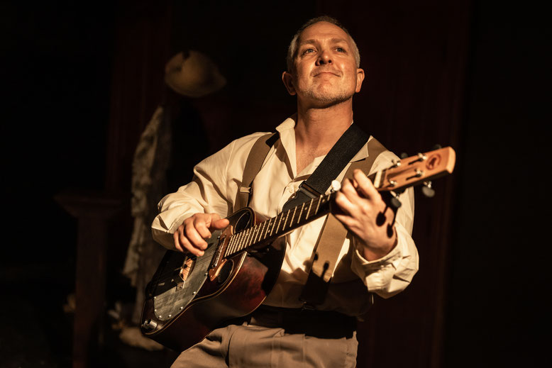 Photo by Darren Gill in SOOT's production of My Brilliant Career at La Mama theatre Carlton.