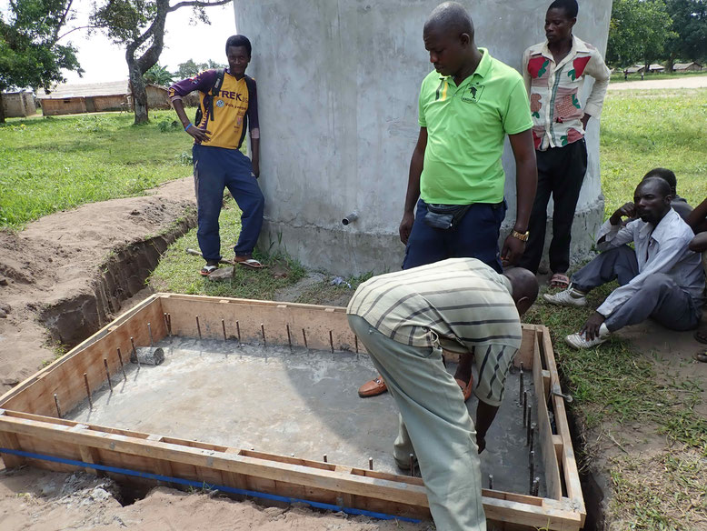 Fundament der Wasserentnahmestelle