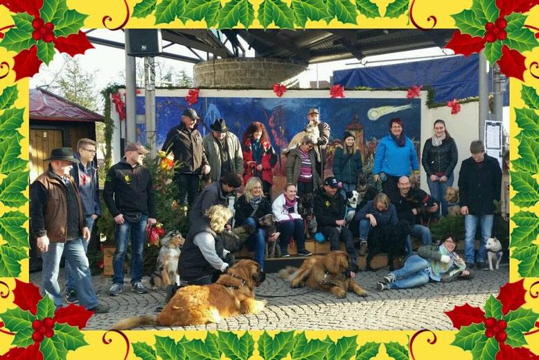 Besuch Weihnachtsmarkt Bruchsal Hundeverein Untergrombach