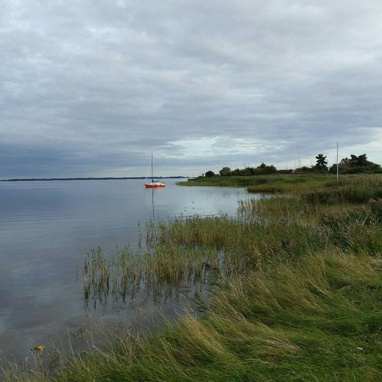 Christine Grandt: Hiddensee, Neuendorf, Bodden, Insel, Wasser, Urlaub, Boot