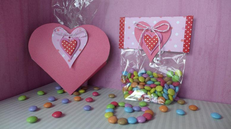 Valentinstag - Süßes für die oder den Süße(n) - Süßigkeiten schön verpackt