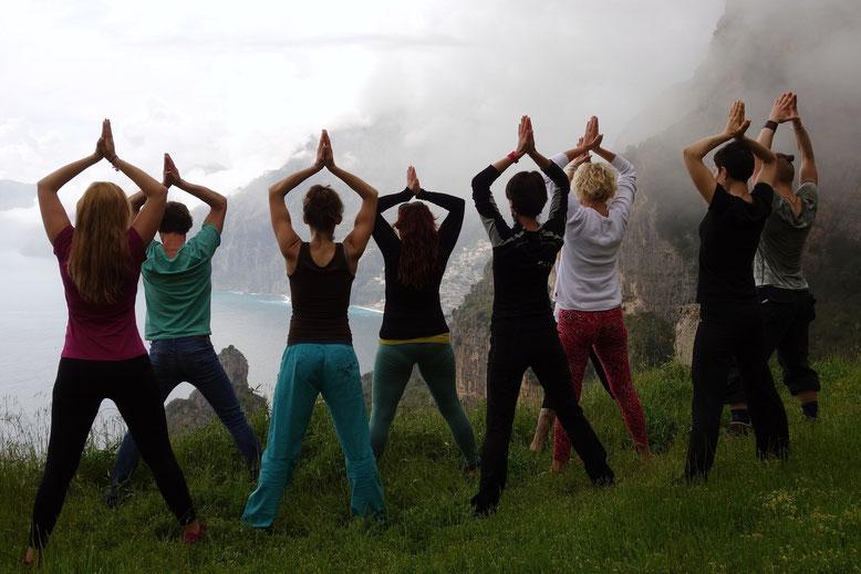 Yoga in den Bergen im Vinschgau am Reschenpass - Südtirol - Alpinresort Hotel Reschnerhof
