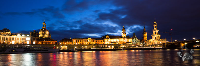 Dresden - Skyline-Ansicht vom Stellplatz am Wiesentor