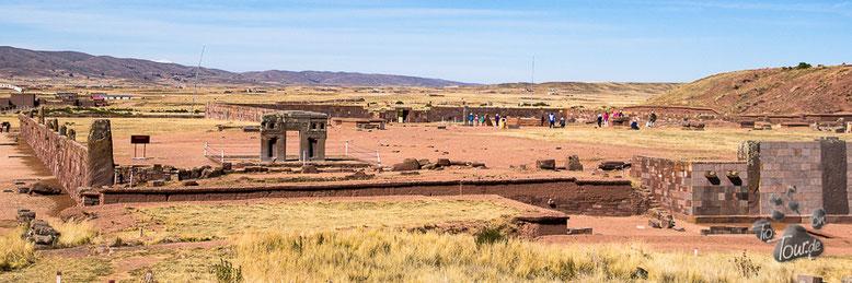 Tiahuanacu - oder Tiwanaku - antike Ausgrabungsstätte