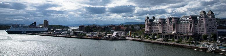 Oslo - Panorama vom Dach des Opernhauses