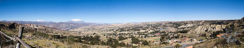 Bolivien - La Paz - Blick auf die höchstgelegene Regierungsstadt der Welt