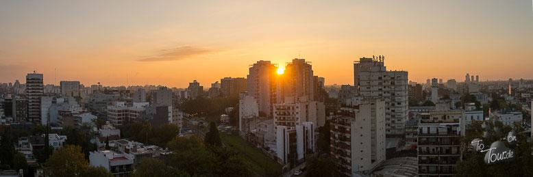 Argentinien - Sonnenuntergang über Buenos Aires - Blick auf Belgrano