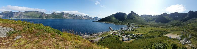 Senja - Blick auf Mefjordvær