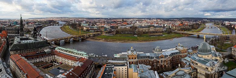 Dresden - Panorama von der Kuppel der Frauenkirche