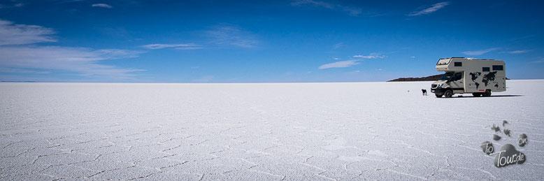 Salar de Uyuni - der größte Salzsee der Erde - mit ca. 10Mrd. Tonnen Salz
