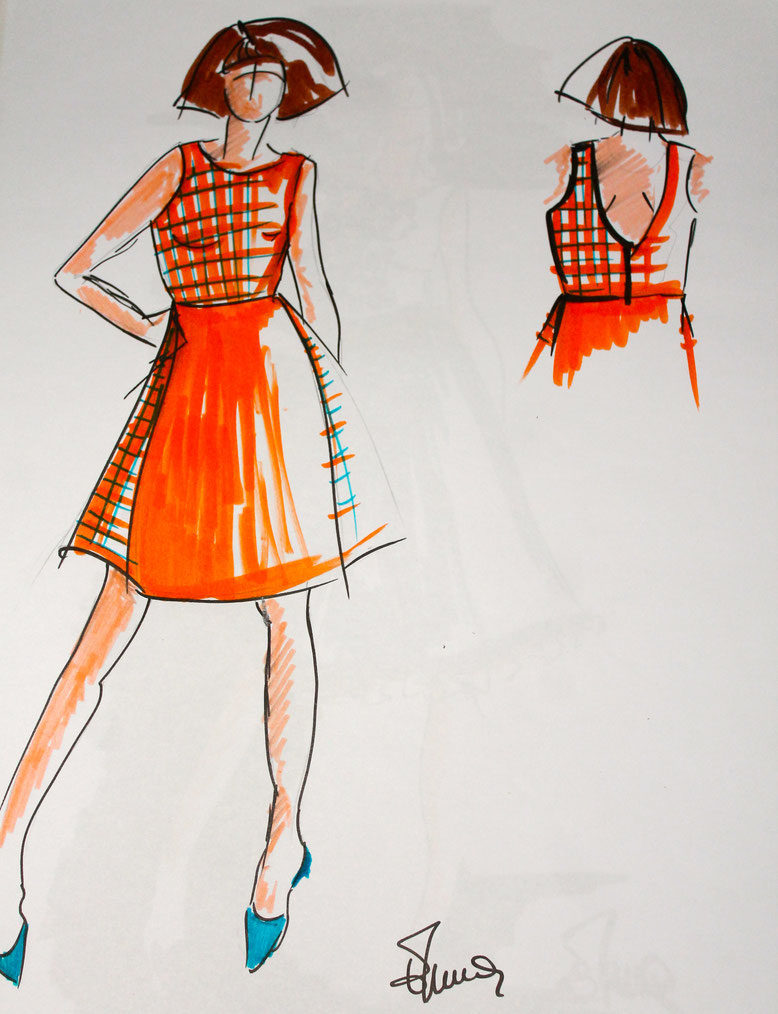 croquis Emma couture