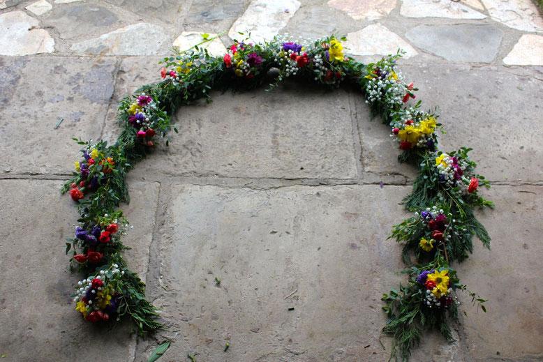 Guirnalda de flores-La Silvestre-Santander