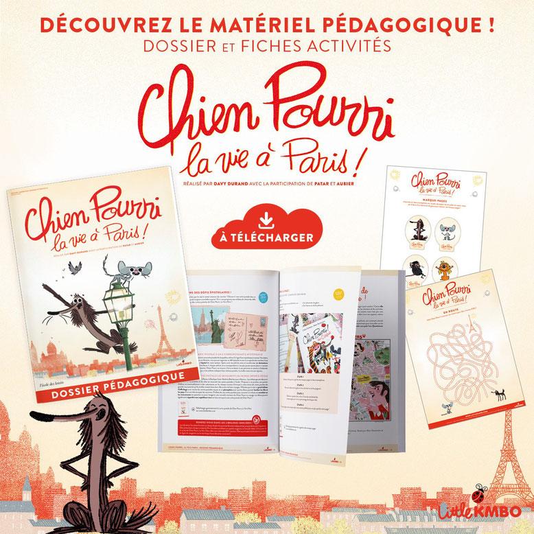 Chien Pourri. La vie à Paris. Dossier pédagogique. LaboPhilo. Ecole des loisirs.