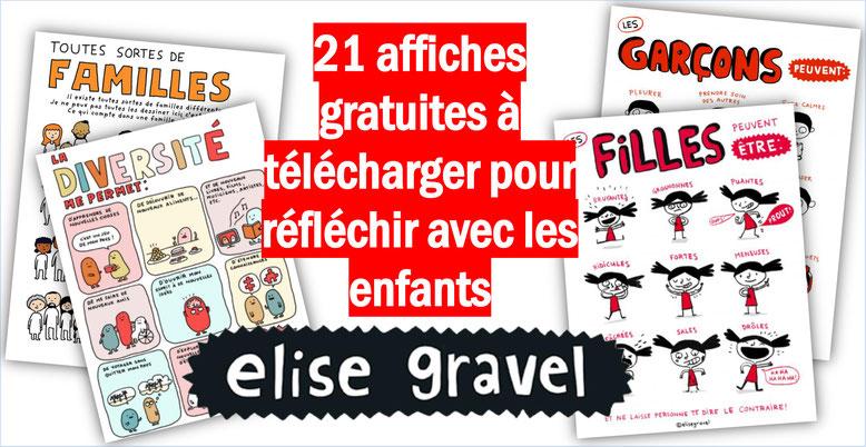 Elise Gravel. Affiches gratuites à télécharger et imprimer.