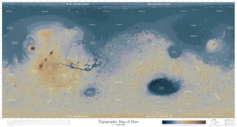 карта Марса составлена чешским энтузиастом Daniel Machacek