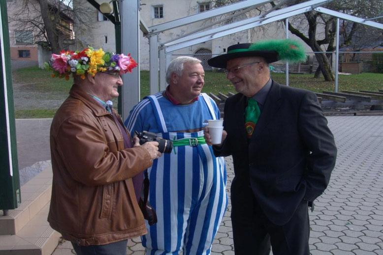 """von lk. """"Der Beobachter"""" Sepp Fercher - """"Obelix"""" Fritz Linko - Minister Peter Lanz"""