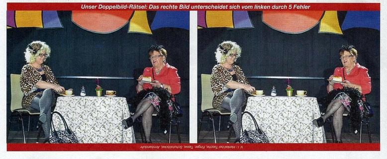 """Im """"Oberkärntner Volltreffer"""" wurden Traudl Mayer u. Ulli Granig  für die Leser sogar zur Fehlersuche auserkoren !"""