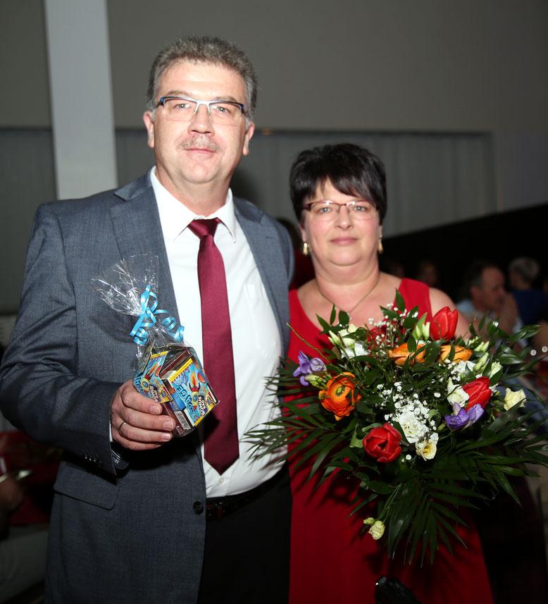 """Wirtschaftsminister Dietmar """"Didi"""" Wunder u. Küchenchefin Gattin Andrea"""